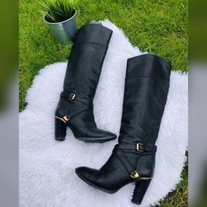 ❤️Tory Burch black leather boots